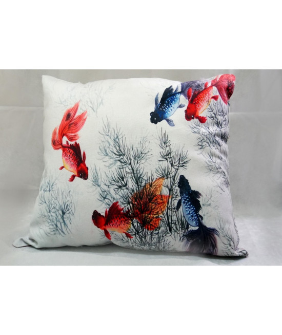 Printed square cushion-3 (stuffed with recycled cigeratte butts)